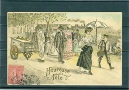 Relief - Gaufrée - Embossed - Prage - Marchand De Glaces - TBE - Non Classés