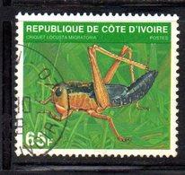 APR2179 - COTE COSTA D'AVORIO 1979 ,  Yvert N. 508E  Usato  (2380A)  Insetti - Costa D'Avorio (1960-...)
