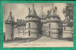 Chaumont-sur-Loire (41) Le Château Façade Sud-Ouest 2scans 19-09-1914 (envoyée D'Onzain) - France