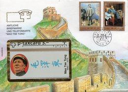 Taxcard- CHINE - 1993.   Mao Tse Tung - Avec Enveloppe Timbrée. - Télécartes
