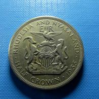 Rhodesia And Nyasaland 1/2 Crown 1955 - Rhodesia