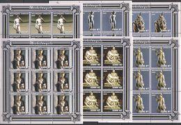 KV193 2001 MOZAMBIQUE ART PAINTINGS SCULPTURES MICHELANGELO !!! 9SET MNH - Scultura