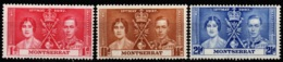 Montserrat (Great Britain) 1937 - Coronation Of King George & Queen Elisabeth - MI 90-92 - MNH - Leeward  Islands