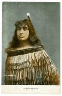 Ref 1316 - Early Ethnic Postcard - A Maori Princess - New Zealand - Océanie
