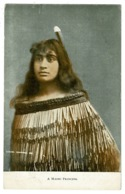 Ref 1316 - Early Ethnic Postcard - A Maori Princess - New Zealand - Oceania