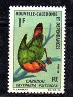 APR2189 - NUOVA CALEDONIA 1966 , Yvert N. 330  ***  MNH  (2380A)  Uccelli  Cardinal - Nuovi