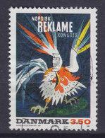Denmark 1991 Mi. 1012  3.50 Kr Plakat Kunst Poster Art Von Arne Ungermann Rooster Coq Hane - Dänemark