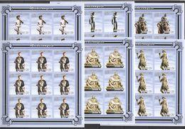 KV214 IMPERFORATE 2001 MOZAMBIQUE ART SCULPTURES MICHELANGELO !!! 9SET MNH - Escultura