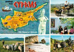 1 Map Of Cyprus * 1 Ansichtskarte Mit Der Landkarte Von Zypern * - Landkarten