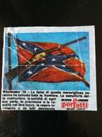 FIGURINA BUBBLE GUM COLT 45 - WINCHESTER 73 - PERFETTI DOLCIFICIO LOMBARDO ITALIA 1960/70 WAX WRAPPER - Süsswaren