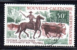 APR2196 - NUOVA CALEDONIA 1969 , Posta Aerea Yvert N. 104  Usato  (2380A)  Elevage - Posta Aerea