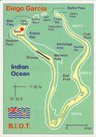 1 MAP Of Diego Garcia * Atoll Im Chagos-Archipel - Landkarte - Indischer Ozean * B.I.O.T. * - Landkarten