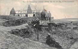 4 Cartes Postales Enterrements De Soldats Allemands - Oorlogsbegraafplaatsen