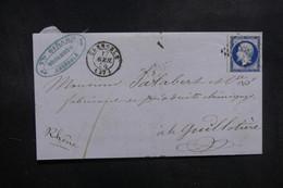 FRANCE - Lettre De Grenoble Pour Lyon En 1856, Affranchissement Napoléon - L 39157 - 1849-1876: Periodo Classico