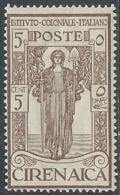 1926 CIRENAICA PRO ISTITUTO COLONIALE 5+5 CENT MNH ** - RA29-7 - Cirenaica