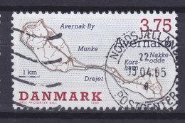 Denmark 1995 Mi. 1096   3.75 Kr Dänische Inseln Danish Isles Avernakø Map - Dänemark
