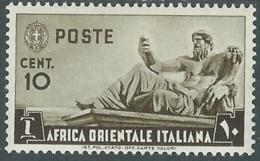1938 AFRICA ORIENTALE ITALIANA SOGGETTI VARI 10 CENT MH * - RA29-6 - Africa Oriental Italiana