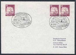 Deutschland Germany 1977 Brief Cover - DB Leistungsschau, Göttingen - Deutsche Bahn / Tentoonstelling / Exhibition - Treinen