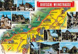 1 Map Of Germany * 1 Ansichtskarte Mit Der Landkarte - Die Deutsche Weinstrasse Und Ihren Sehenswürdigkeiten * - Landkarten