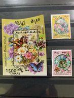 IRAQ 2019 MNH Iraqi 3D Flowers Flora Fauna Holographic Butterflies SS Ltd Stamps - Iraq