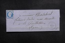 FRANCE - Lettre De Culoz Pour Lyon En 1858, Affranchissement Napoléon PC 1060 - L 39161 - 1849-1876: Periodo Classico