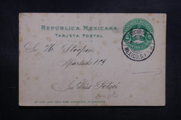 MEXIQUE - Entier Postal De Mexico ( Repiquage Au Verso ) De 1904 Pour San Luis Potosí - L 39162 - Mexiko