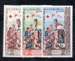 APR2200 - LAOS 1963 , Serie  Yvert N. 90/92  ***  MNH  (2380A)  Croce Rossa Red - Laos