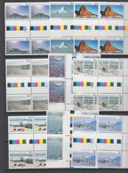 AAT 1984 Landscapes 9v 2x Gutter ** Mnh (44153) - Australisch Antarctisch Territorium (AAT)
