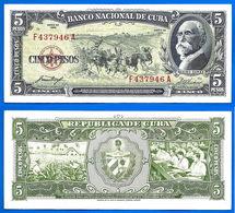 Cuba 5 Pesos 1958 Serie F Maximo Gomez Tabac Que Prix + Port Cheval Tobacco Horse Kuba Pesos Paypal Bitcoin OK - Cuba
