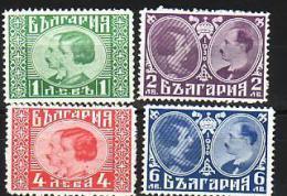1930  MARIAGE Du Roi BORIS III  4 V.-MNH **BULGARIE / Bulgaria - Nuevos