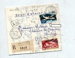 Lettre Recommandée Saint Hilaire Du Harcquet Sur Avion Ms  Vouglans - Postmark Collection (Covers)