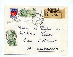 Lettre Recommandée Octeville  Sur Carnac - Postmark Collection (Covers)