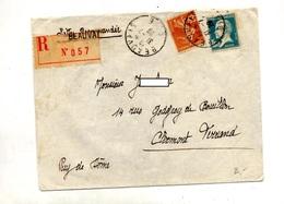 Lettre Recommandée Beauvais Sur Pasteur Semeuse - Postmark Collection (Covers)