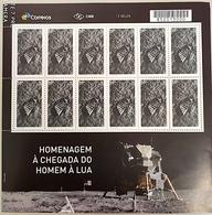 Brazil C 3831 Selo Chegada Do Homem à Lua 2019 Sheet VlTRIBUTE TO LUNAR LANDING MISSION, SPACE EXPLORATION, MOON - Brésil