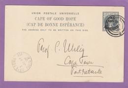 CAPE TOWN , POSTE RESTANTE. - Cape Of Good Hope (1853-1904)
