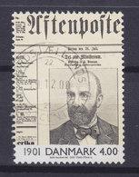 """Denmark 2000 Mi. 1234    4.00 Kr Ereignisse Des 20. Jahrhunderts Minister Johan Henrik Deuntzer """"Aftenposten"""" Zeitung - Dänemark"""