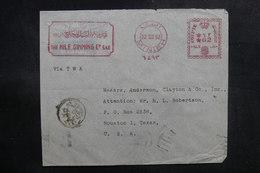 EGYPTE - Enveloppe Commerciale De Minia Pour Les Etats Unis En 1952, Affranchissement Mécanique - L 39175 - Lettres & Documents