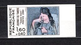 FRANCE  N° 2205a  NON DENTELE NEUF SANS CHARNIERE  COTE 61.00€   JOURNEE DU TIMBRE TABLEAUX PICASSO - Frankrijk