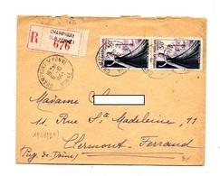 Lettre Recommandée Champigny Sur Yonne Sur Haute Couture - Marcophilie (Lettres)
