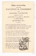Plechtige Communie - Martha DeCoster - Meerbeek Kortenberg 1931 - Communion