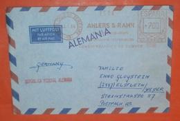 SPANIEN - AFS *700 -- Santa Cruz De Tenerife 08.01.1964 - AHLERS & RAHN Exp. - Imp. -- Brief Meter Cover (2 Foto)(37827) - 1931-Tegenwoordig: 2de Rep. - ...Juan Carlos I