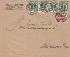 Danzig Jolie Lettre Pour La France 1921 - Danzig