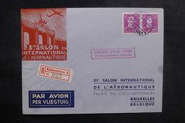 DANEMARK - Enveloppe Par Vol Spécial Pour La Belgique En 1947 , Affranchissement Plaisant - L 39186 - Briefe U. Dokumente