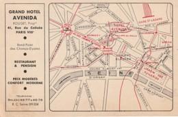 ***  75  ***   PARIS GRAND HOTEL  AVENIDA - écrite TTB - Distrito: 08