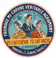"""Et. Fromage Mi-Chèvre Véritable AGRAMONT """"Les Belles Filles Du Poitou"""" St Jean De Sauves - Cheese"""