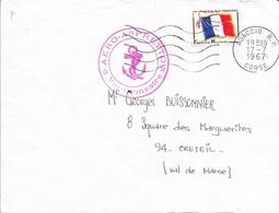 CORSE 20 - AJACCIO - CACHET AERO ASPRETTO LE VAGUEMESTRE  -  TIMBRE FM N° A 13 - - Marcofilia (sobres)