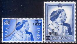 British Postal Agencies In Eastern Arabia/Muscat/Oman 1948 SG #25-26 Compl.set Used CV £40.50 Royal Silver Wedding - Great Britain (former Colonies & Protectorates)