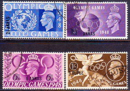 British Postal Agencies In Eastern Arabia/Muscat/Oman 1948 SG #27-30 Compl.set Used CV £11 Olympic Games - Great Britain (former Colonies & Protectorates)