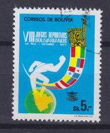Bolivia 1977 Mi. 931     5 P Bolivar-Sportspiele Flags Flaggen Der Teilnehmender Ländern - Bolivien