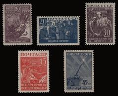 Russia / Sowjetunion 1942 - Mi-Nr. 842-846 ** - MNH - Vaterländischer Krieg - 1923-1991 UdSSR